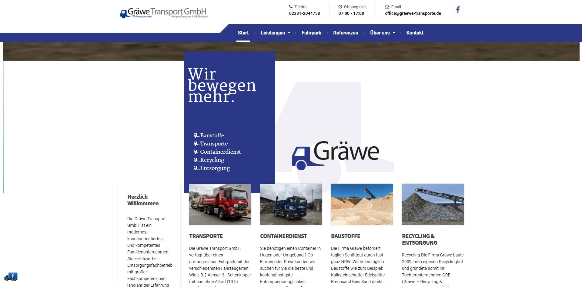 Graewe-Transporte – Wir bewegen mehr