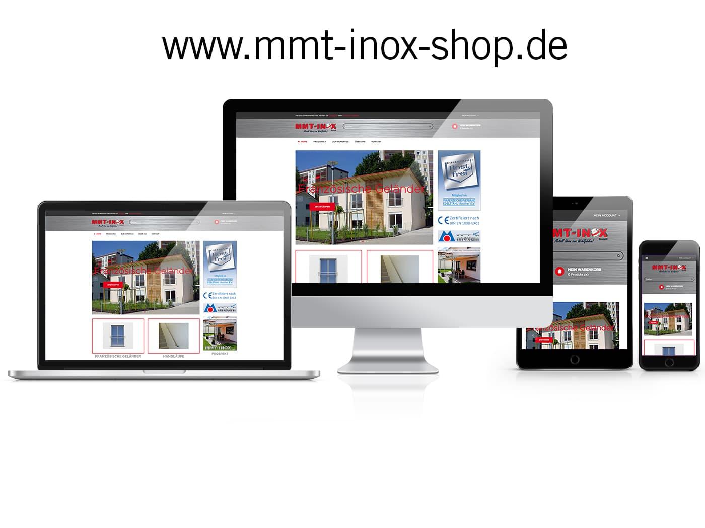Prestashop Online-Shop MMT Inox GmbH