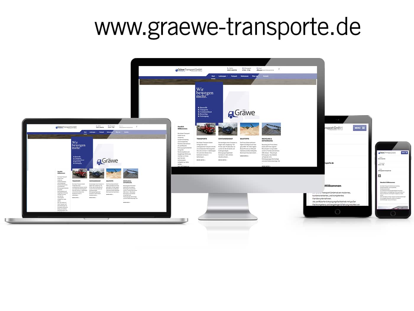 WordPress Website Gräwe Transport GmbH