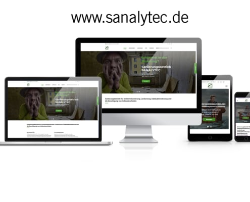WordPress Website Sanierungsbetrieb SANALYTEC