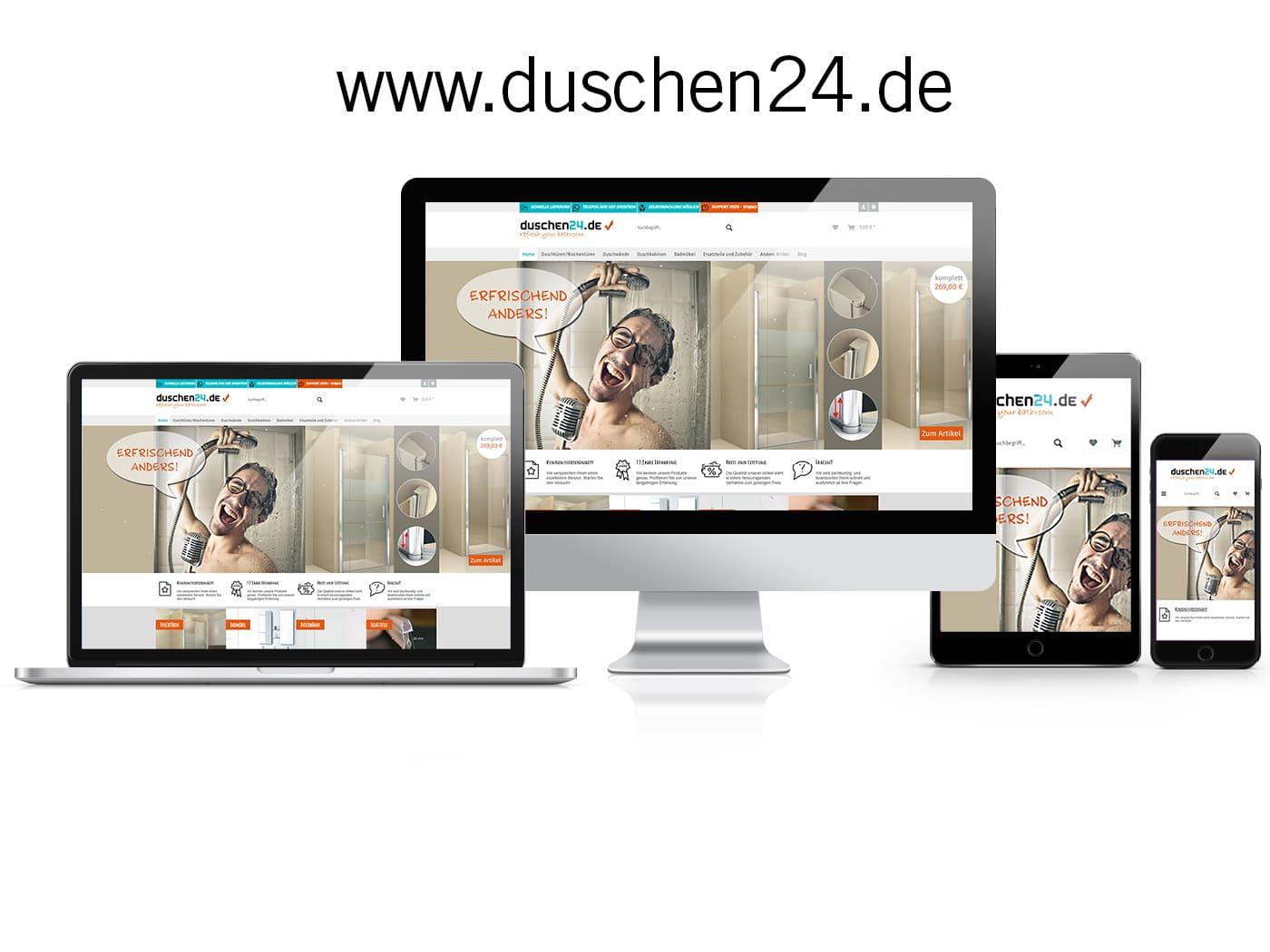 Shopware Online-Shop Duschen24