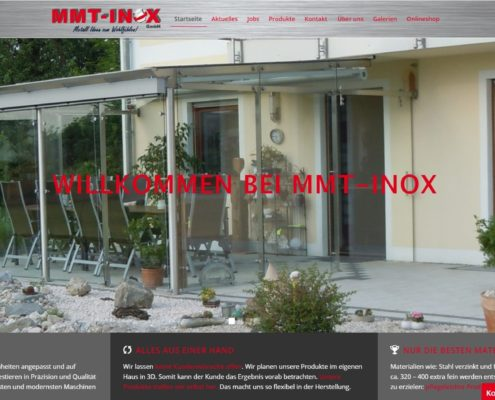 Website MMT-Inox GmbH
