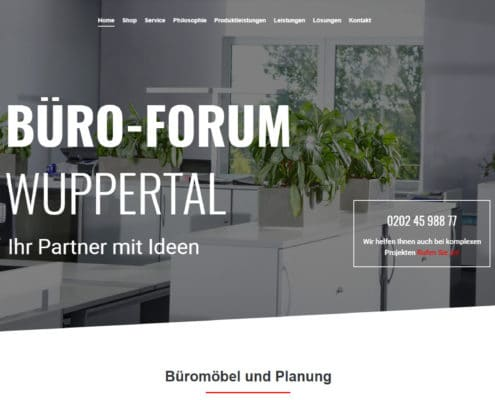 Büro-Forum Wuppertal Website