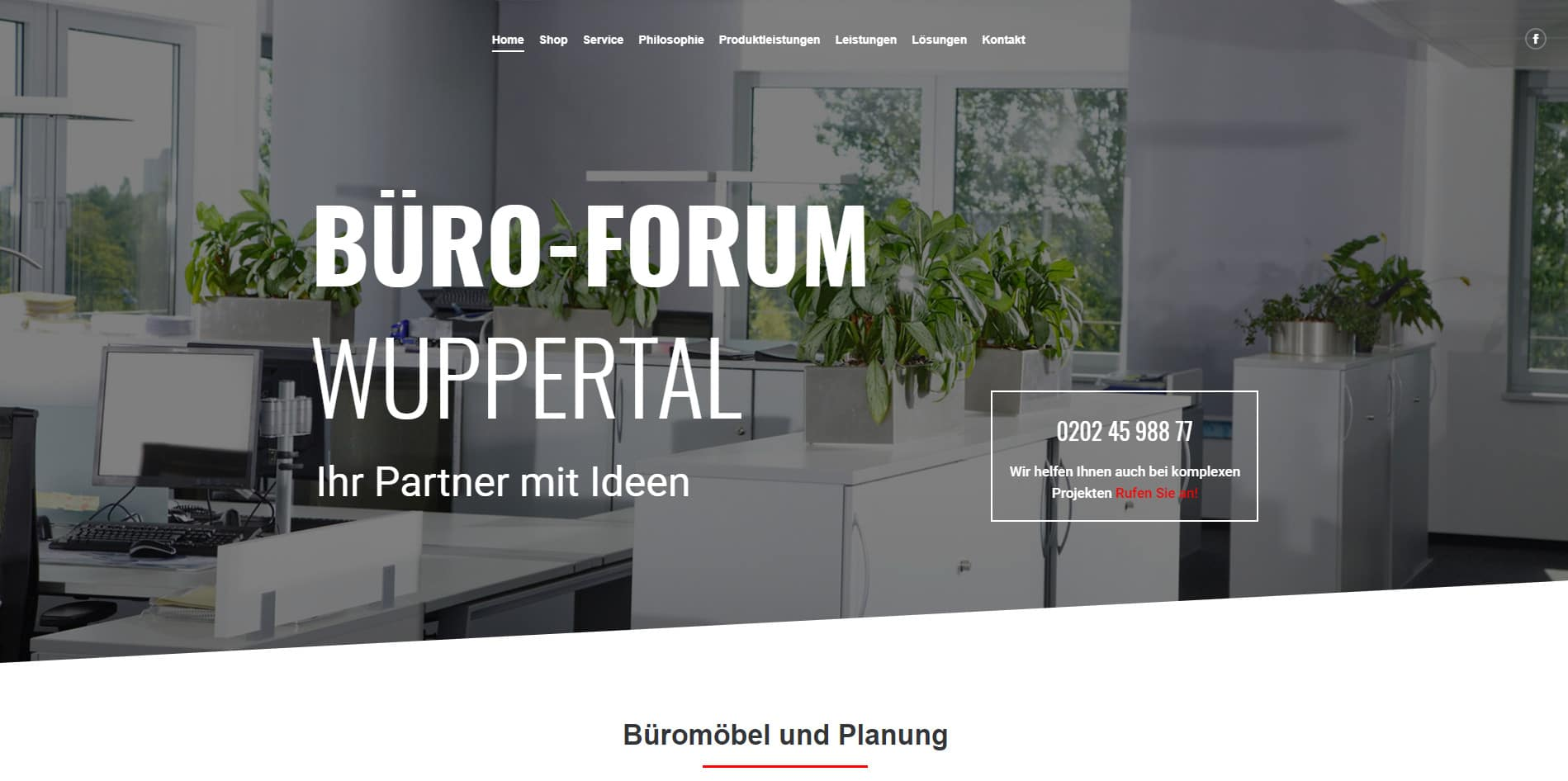 WordPress Website Büro-Forum Wuppertal | die codedesigner