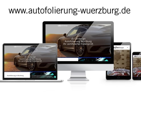 WordPress Website Autofolierung Würzburg