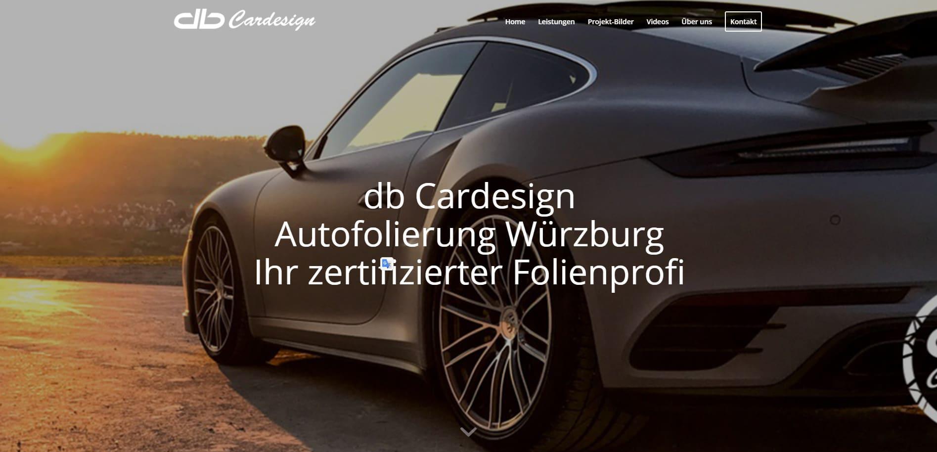 WordPress Website db Cardesign