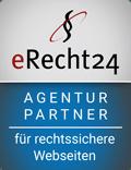 Wir sind Agentur Partner von eRecht24