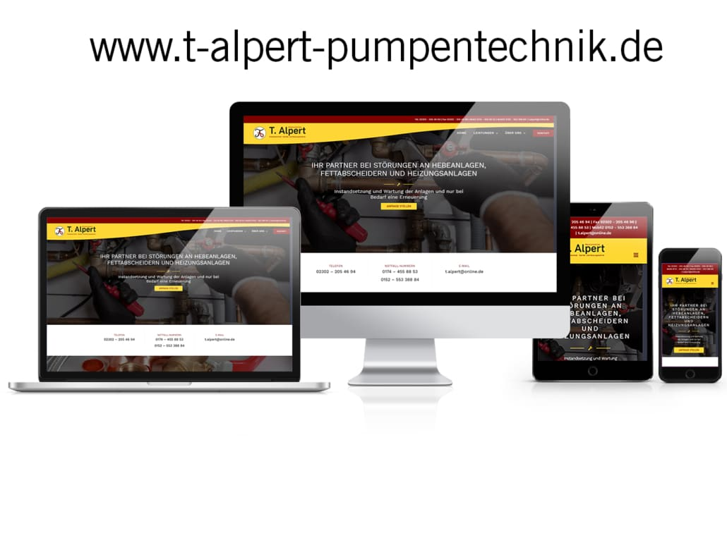 WordPress Website T Alpert Pumpentechnik