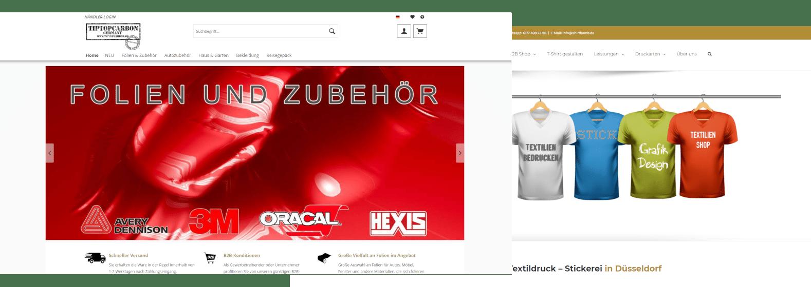 Online-Shop Erstellung E-Commerce